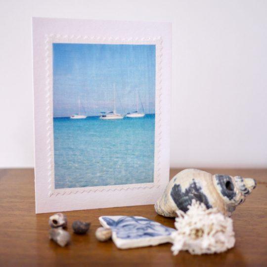 carte postale lin vintage Lagon