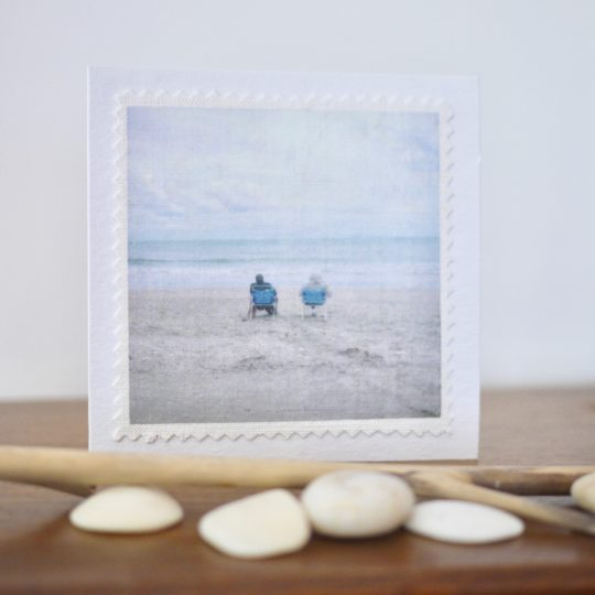 carte postale lin vintage Sea for two