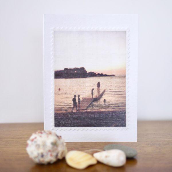 carte postale lin vintage l'heure exquise